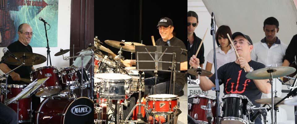 Clases y talleres de tambor, percusión y batería con Ruy López Nussa